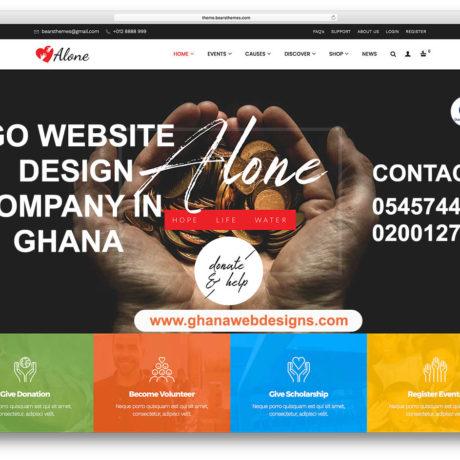NGO Website design company in Ghana, Accra